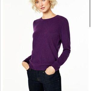 Purple Cashmere Crewneck